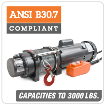 Columbia AC Hoists ANSI-B30.7 Compliant