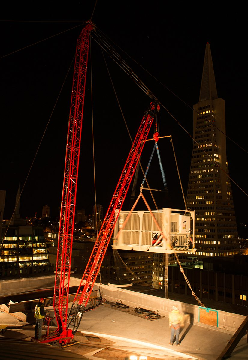 Columbia Construction Hoist System for Guy Derrick Crane