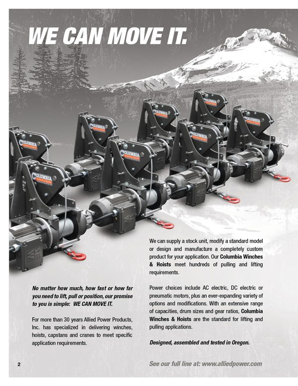 APPI Product Brochure 02 allied power products, inc winch and hoist specialists 120 Volt Hoist Motor Wiring at readyjetset.co
