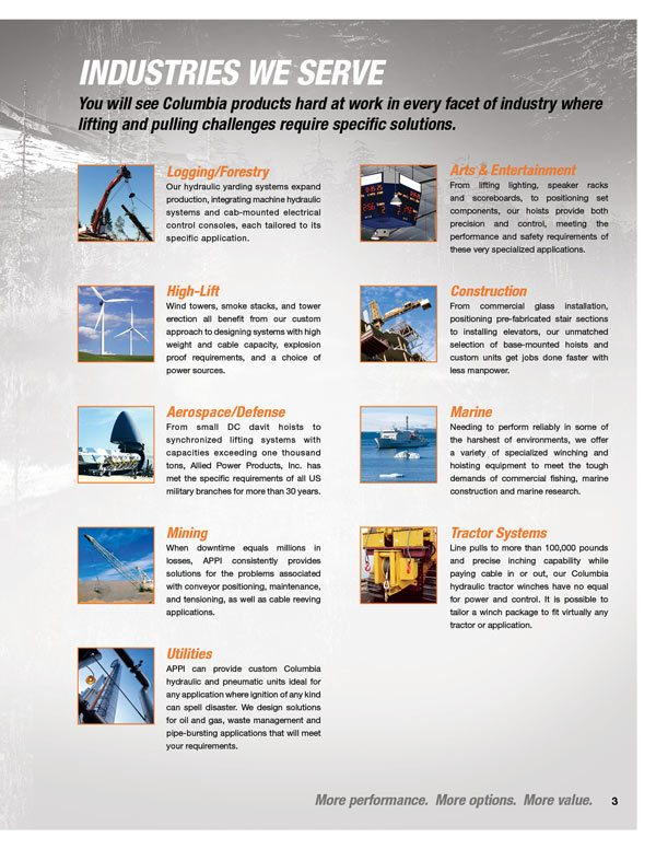 APPI Product Brochure 03 allied power products, inc winch and hoist specialists 120 Volt Hoist Motor Wiring at readyjetset.co