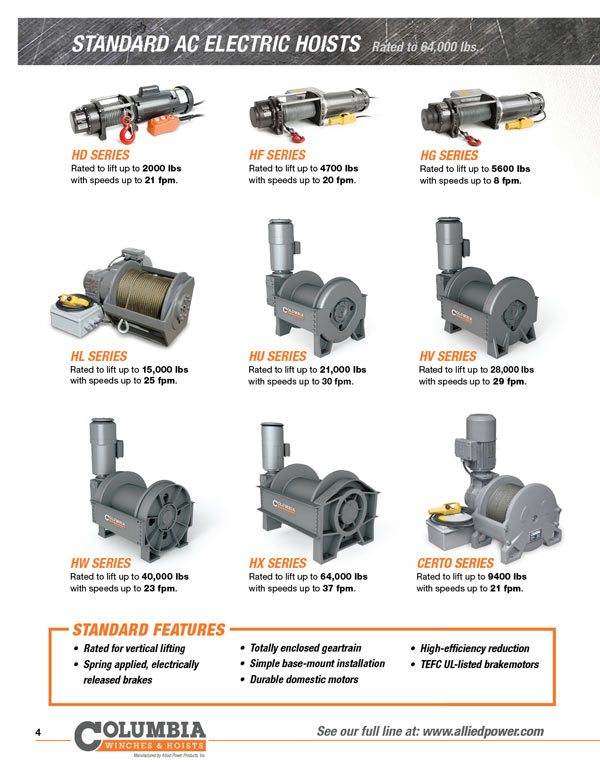 APPI Product Brochure 04 allied power products, inc winch and hoist specialists 120 Volt Hoist Motor Wiring at readyjetset.co
