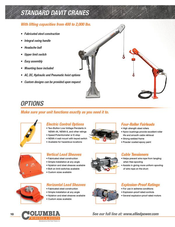 APPI Product Brochure 10 allied power products, inc winch and hoist specialists 120 Volt Hoist Motor Wiring at readyjetset.co